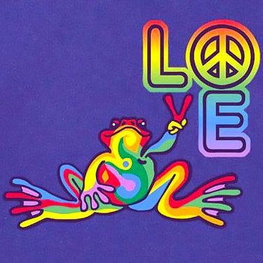 Love Peace Frog Tattoo