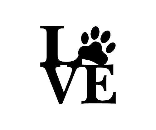 Love Puppy Dog Paw Print Tattoo Design