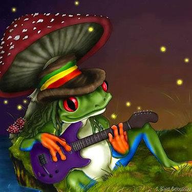 LSD Frog Tattoo