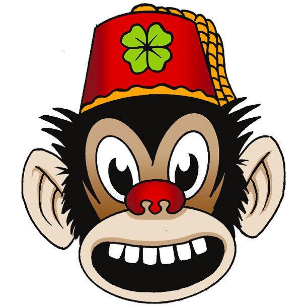Lucky Monkey Tattoo Design