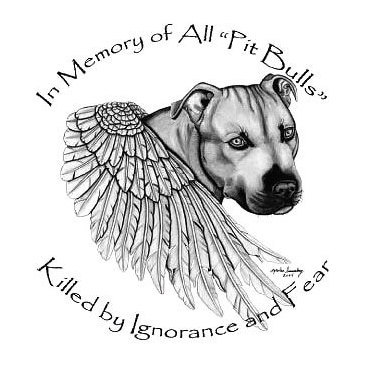 Memorial Pitbull Wings Tattoo