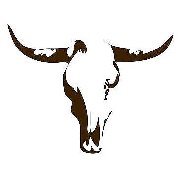 Minimalism Bull Skull Tattoo