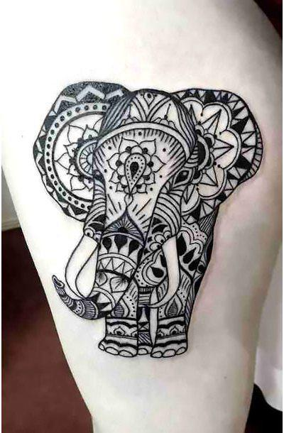 Best Geometric Elephant Tattoo Idea