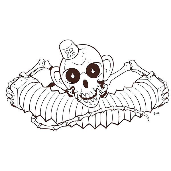 Monkey Bones Tattoo Design