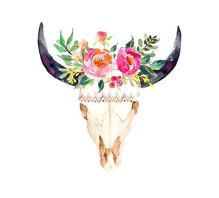 Nice Bull Skull Tattoo Design