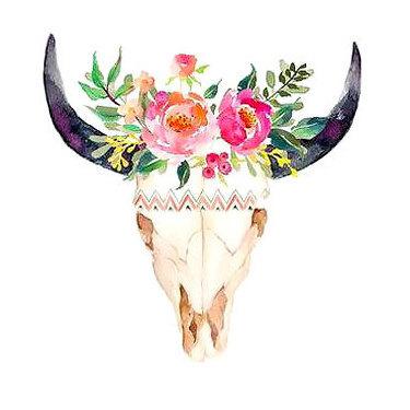 Nice Bull Skull Tattoo