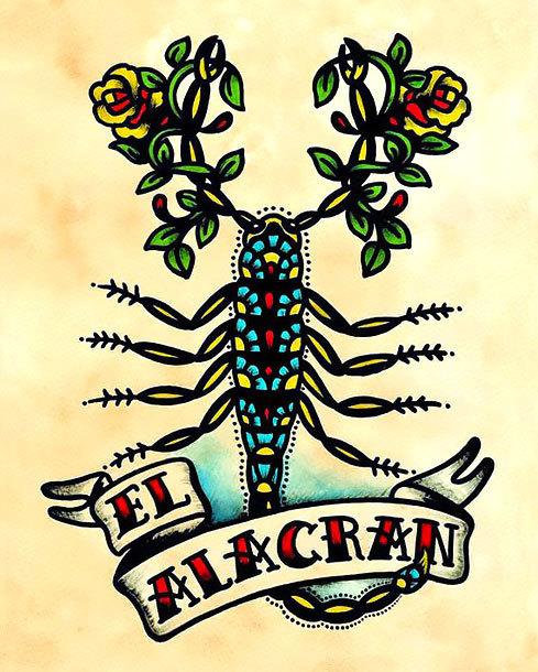 Old School Scorpion Tattoo Design