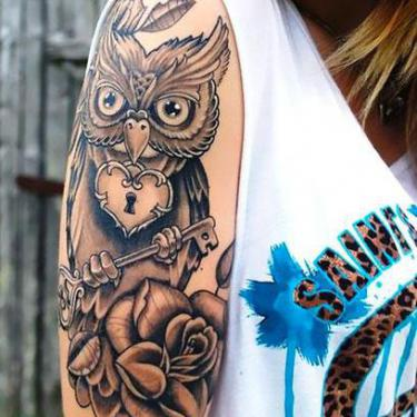 Best Half Sleeve Owl Tattoo