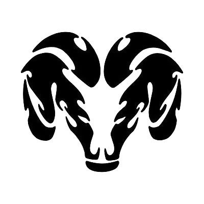 Simple Tribal Ram Head Tattoo Design