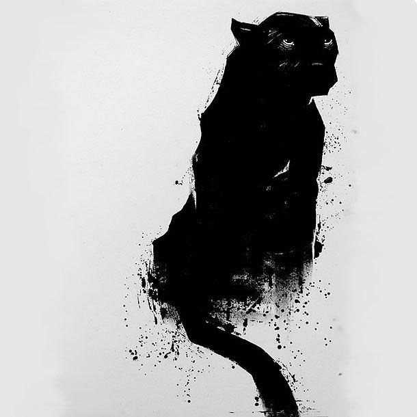Tattoo Design of Black Panther Tattoo Design