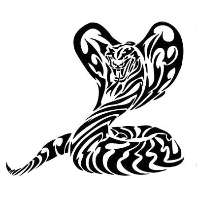 Tribal Cobra Tattoo Design
