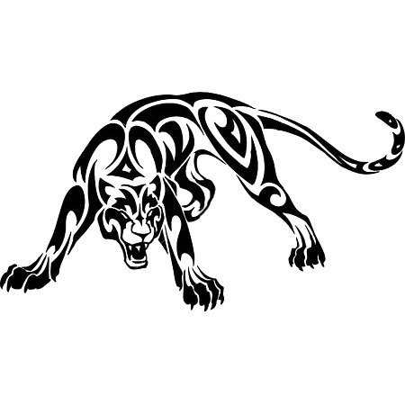 Tribal Panther Tattoo Design