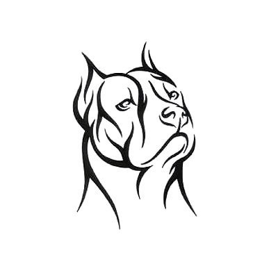 Tribal Pitbull Tattoo Design