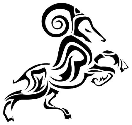 Tribal Ram Tattoo Design