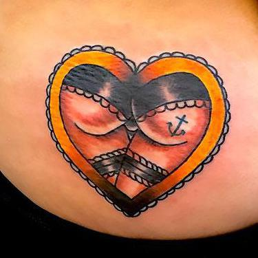 Best Heart on Butt Tattoo