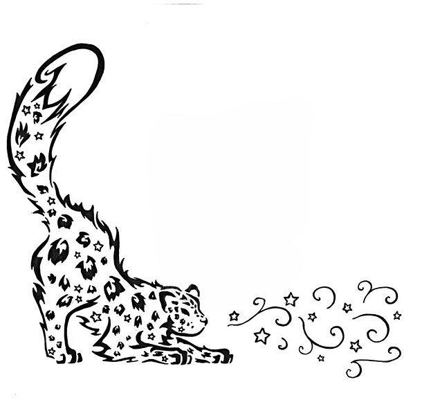 Tribal Leopard Tattoo Design
