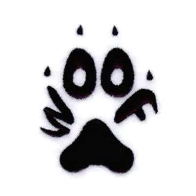 Woof Dog Paw Tattoo Design