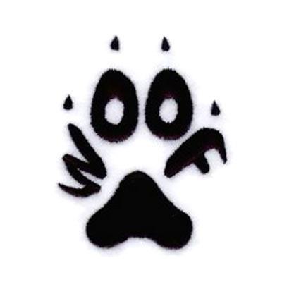 Woof Dog Paw Tattoo Design