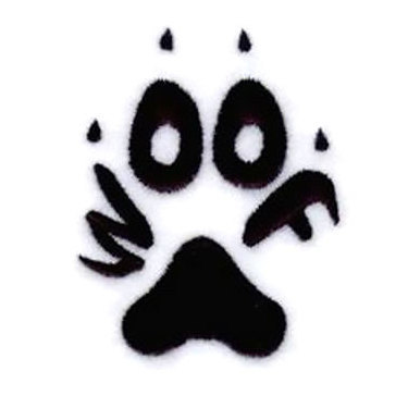 Woof Dog Paw Tattoo