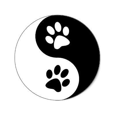 Yin Yang Dog Paws Tattoo Design