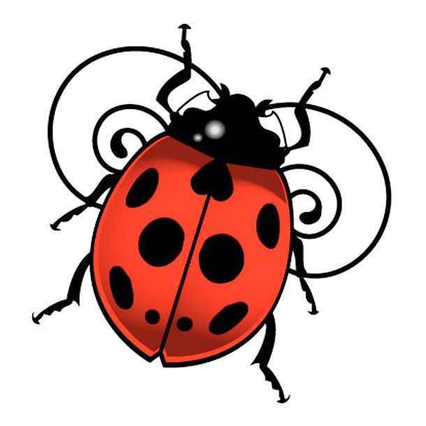 3D Ladybug Tattoo Design