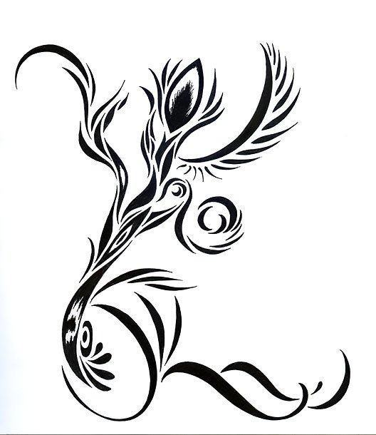 Tribal Abstract Flower Tattoo Design