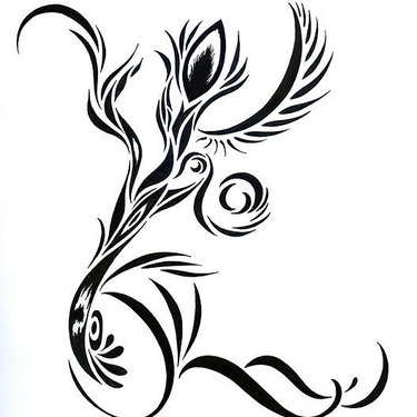 Tribal Abstract Flower Tattoo