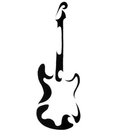 Abstract Guitar Tattoo Design