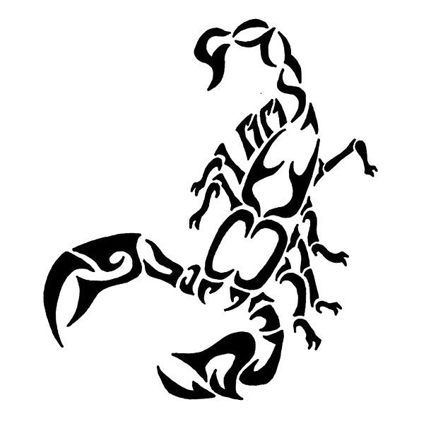 Abstract Tribal Scorpion Tattoo Design