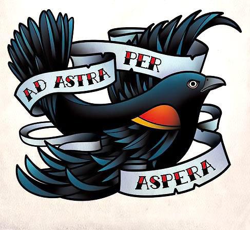 Ad Astra Per Aspera Tattoo Design