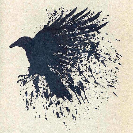 Adorable Raven Tattoo Design
