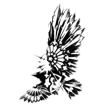 Amazing Blackbird Tattoo Design