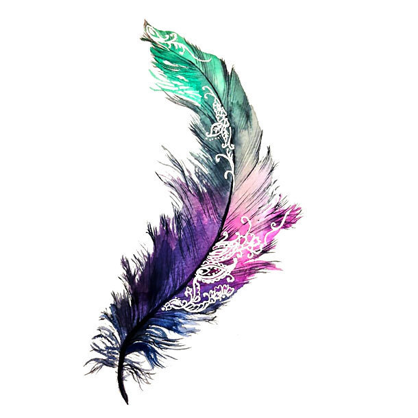 Amazing Feather Tattoo Design