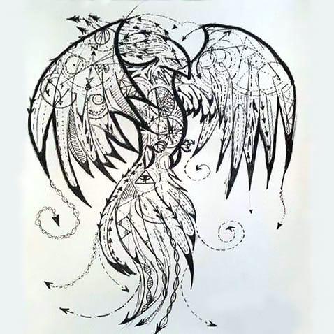 Amazing Phoenix Tattoo Design