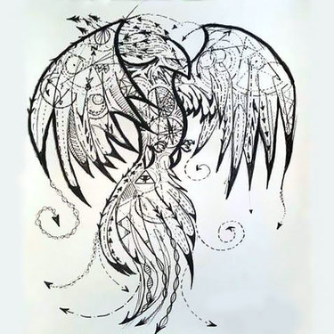 Amazing Phoenix Tattoo