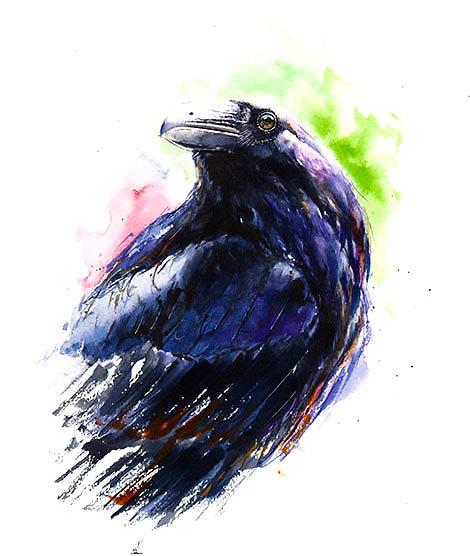 Amazing Raven Tattoo Design