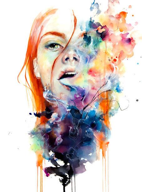 Amazing Watercolor Portrait Tattoo Design