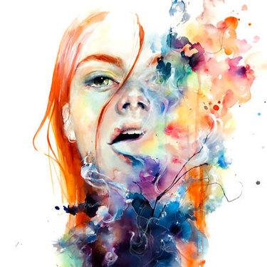 Amazing Watercolor Portrait Tattoo