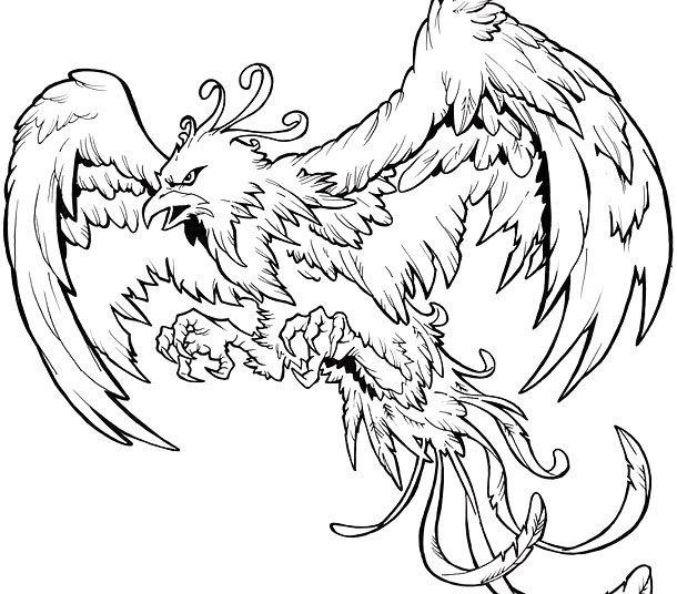 Angry Phoenix Tattoo Design