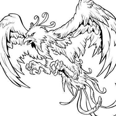 Angry Phoenix Tattoo