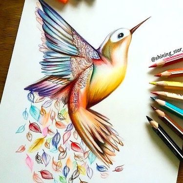 Awesome Hummingbird Tattoo
