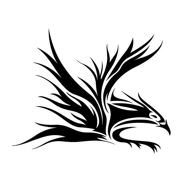 Awesome Tribal Eagle Tattoo Design