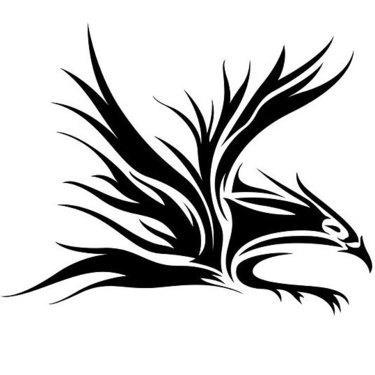 Awesome Tribal Eagle Tattoo