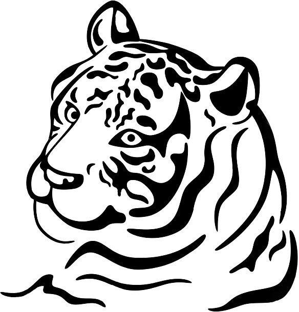 Beautiful Abstract Tiger Tattoo Design