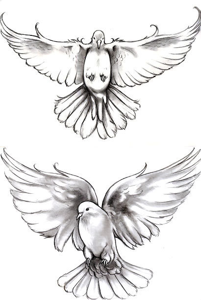 Beautiful Doves Tattoo Design