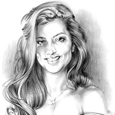 Beautiful Girl Portrait Tattoo