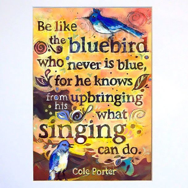 Be Like The Bluebird Tattoo Design