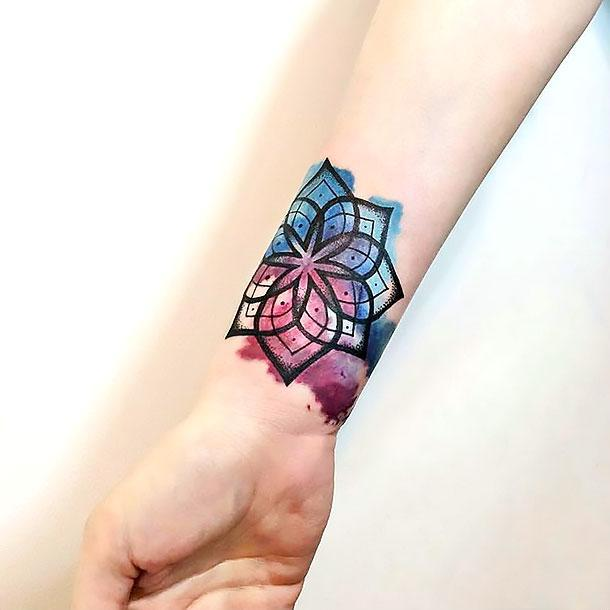 Best Mandala on Wrist Tattoo Idea