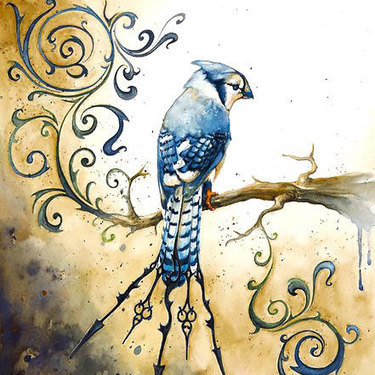 Best Bluebird on Branch Tattoo