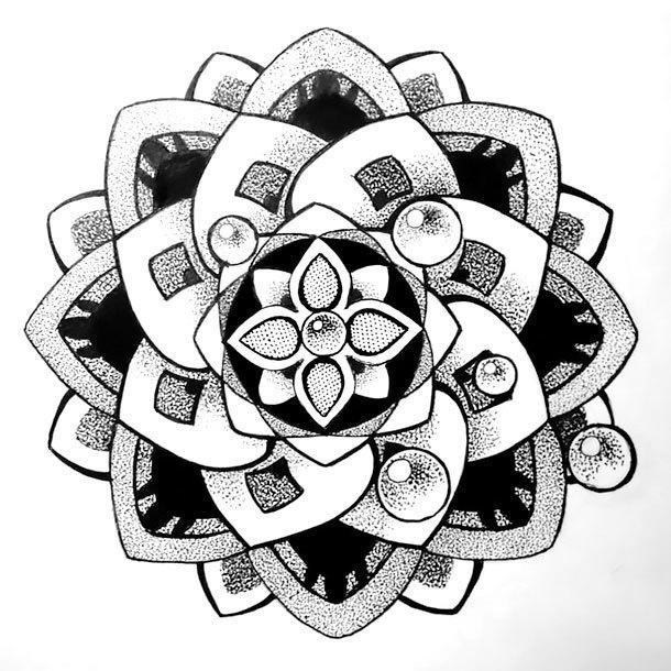 Best Dotwork Mandala Tattoo Design